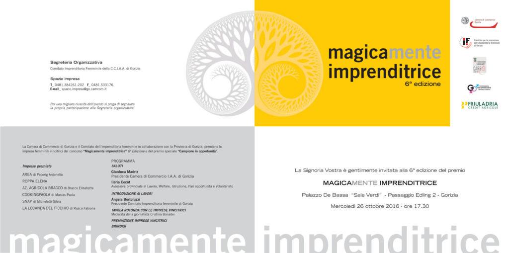 Premio all'imprenditorialità Magicamente Imprenditrice